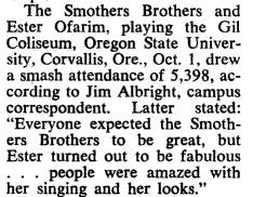 "Article of the ""Bilboard Magazine"", November 28, 1964"